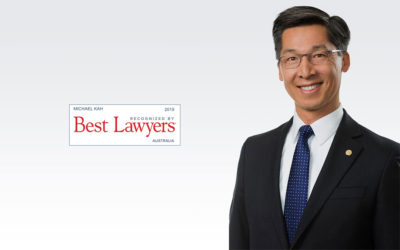 Australia's Best Lawyer Award 2020 in the area of immigration law